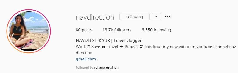 Navdeesh Kaur Biography, Age, Height, Job, Family, Blog, Youtube Channel, Instagram 13