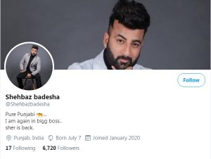 Shehbaz Badesha Biography, Shehnaz Gill Brother, Song, TV Show, Bigg Boss 13 21