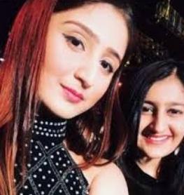 Dhvani Bhanushali with sister