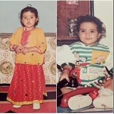 Jasmin Bhasin childhood pic