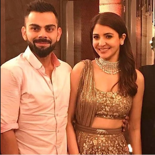Anushka Sharma and Virat Kohli Reception Pics