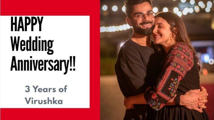 Happy Wedding Anniversary Anushka Sharma and Virat Kohli