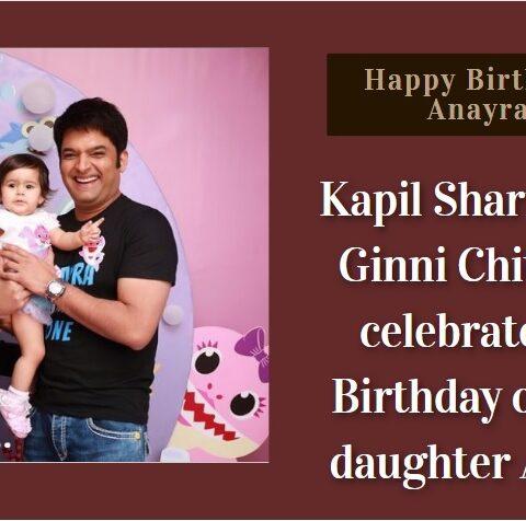 Kapil Sharma Daughter Anayra Sharma Birthday Pics
