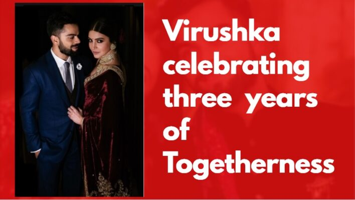 Virat Kohli and Anushka Sharma celebrating 3rd Wedding Anniversary