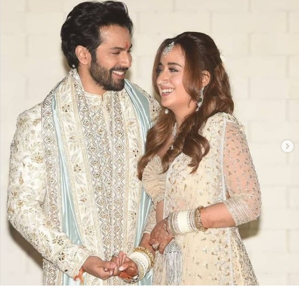 Varun Dhawan and Natasha Dalal Wedding Pics